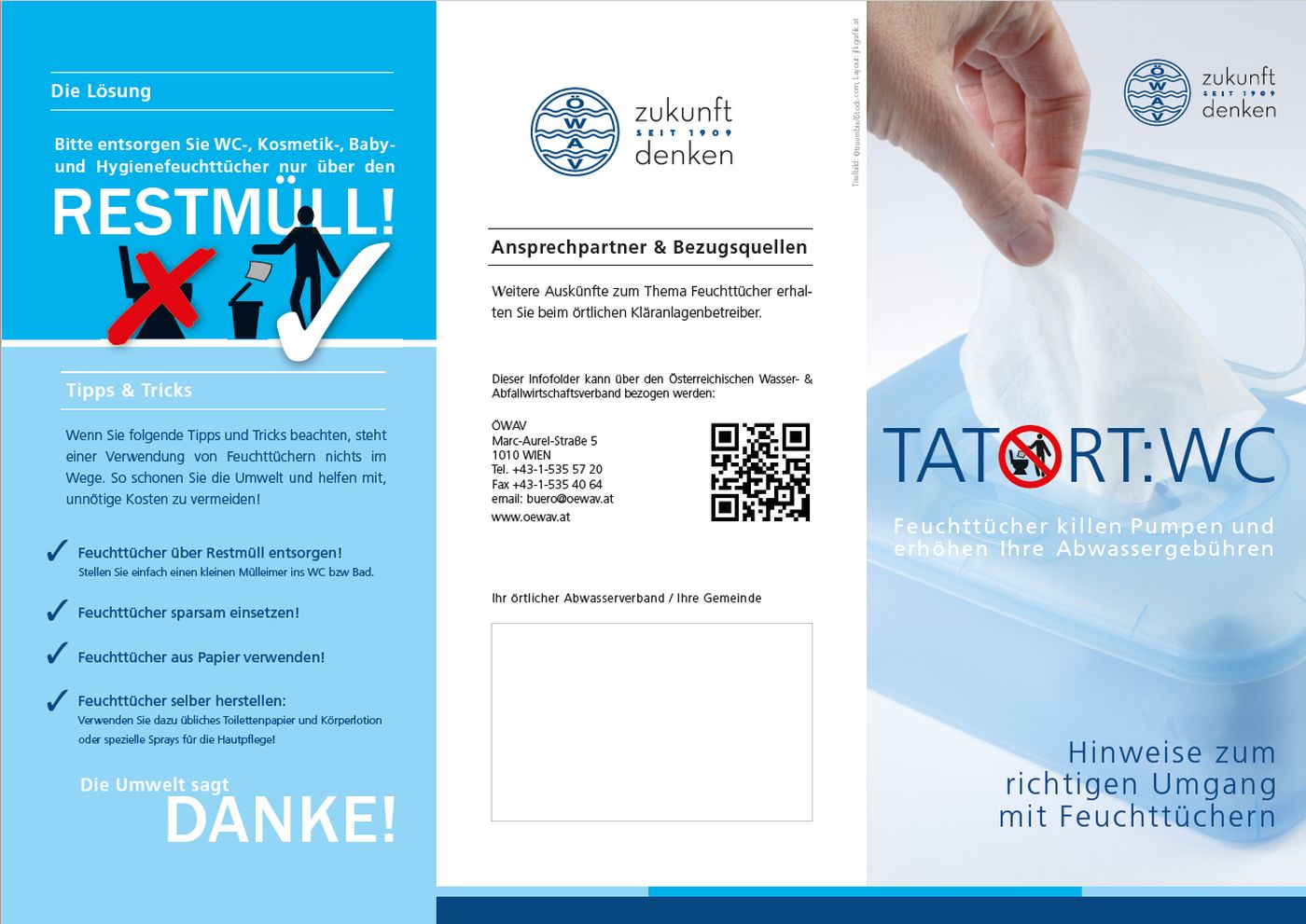 "Flyer ""Tatort:WC - Feuttücher"""